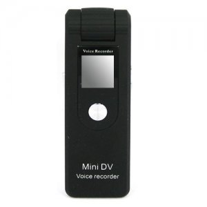 Plug-and-Play Spy Voice Recorder with Dictaphone and Line-in Recording Functions